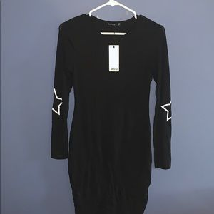 NWT Boohoo black fitted dress Size 8